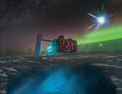남극 아이스큐브 중선미자 관측소 전경
