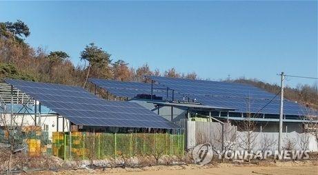 태양광발전 시설(사고와 관련 없는 자료사진)