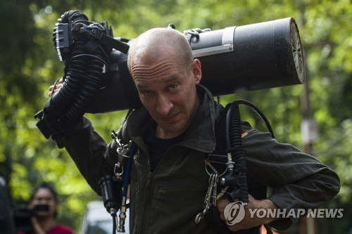 동굴구조에 동참했던 외국인 잠수 전문가[AFP=연합뉴스 자료사진]