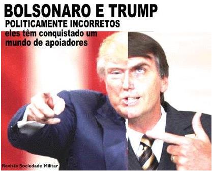 트럼프 대통령과 보우소나루 의원을 합성한 사진 [브라질 군인단체 웹사이트]