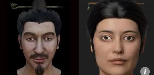 안면인식기술로 복원된 진시황 시대 궁중인의 얼굴