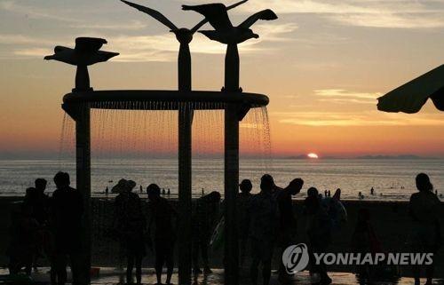 서천 춘장대해수욕장 일몰