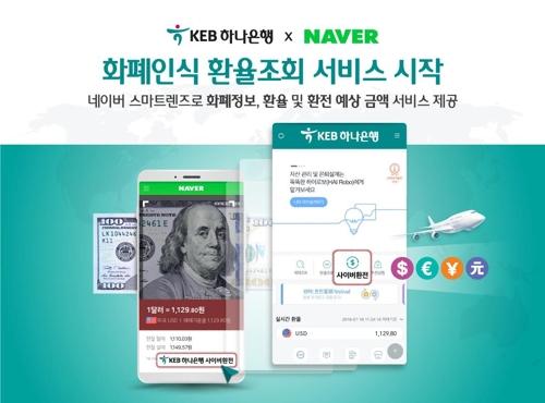 KEB하나은행-네이버, 스마트렌즈로 외국통화·환율 조회 서비스