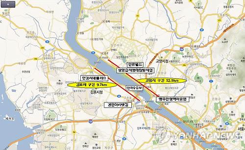 한강하구 철책 제거사업 위치도[연합뉴스 자료사진]