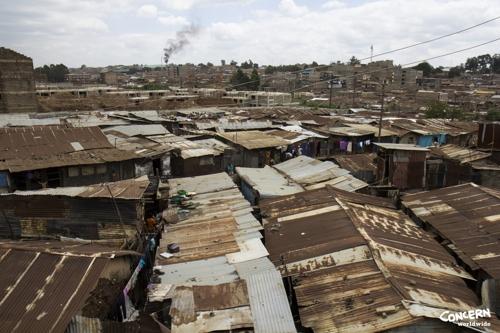 케냐 수도 나이로비 빈민촌 중 하나인 코로고초.[컨선월드와이드 제공]