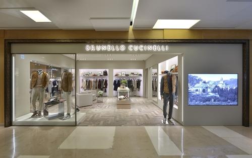 브루넬로 쿠치넬리, 신세계 강남점에 국내 첫 남성단독매장 오픈