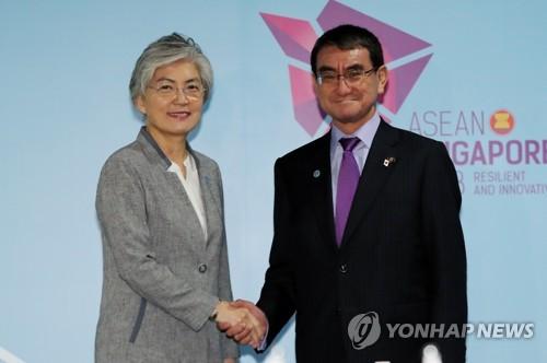 한일외교장관 회담…남북·북미정상합의 충실 이행 노력(종합2보)