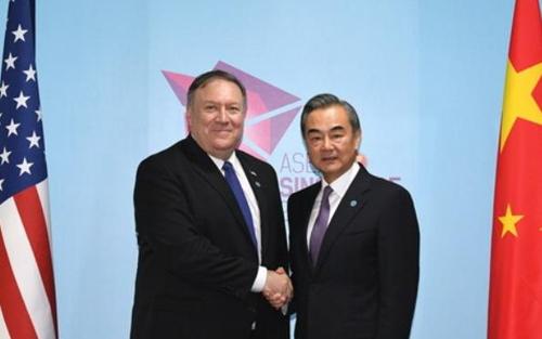 무역전쟁 속 미중 외교장관 회동…왕이 협력만이 유일한 선택