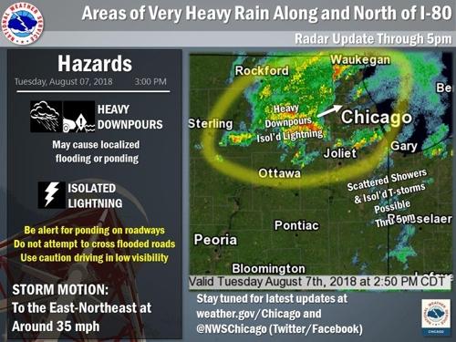 시카고에 시간당 55mm 폭우…오헤어국제공항 운항 차질