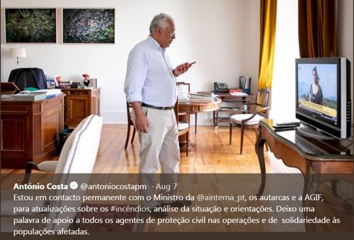 포르투갈 총리, 집무실서 TV로 산불상황 긴밀 파악…비난 자초