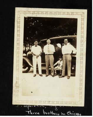 1931년에 촬영된 강영각·강영문·강영소 형제 사진