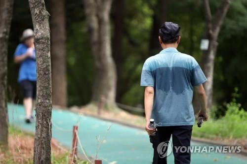 땀이 흥건 [연합뉴스 자료사진]