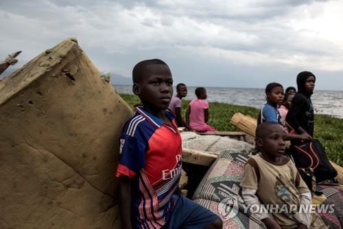 민주콩고 난민 어린이들 [AFP=연합뉴스]