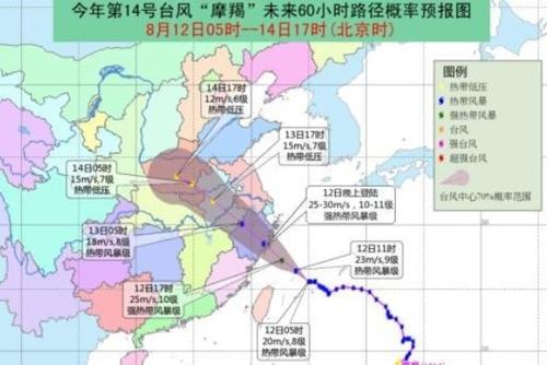 태풍 '야기' 중국 내륙에 접근