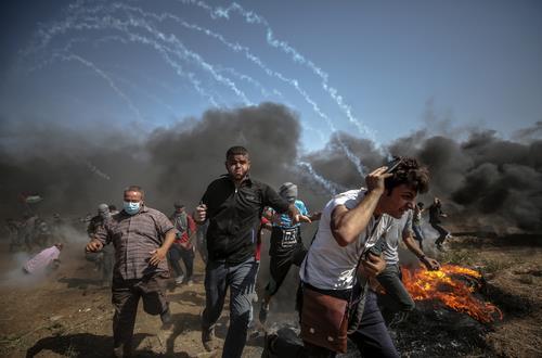 팔레스타인 가자지구 시위[EPA=연합뉴스 자료사진]