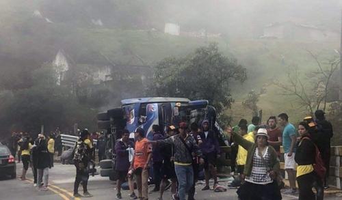 에콰도르 프로축구팀 팬 버스 전복…12명 사망·30명 부상