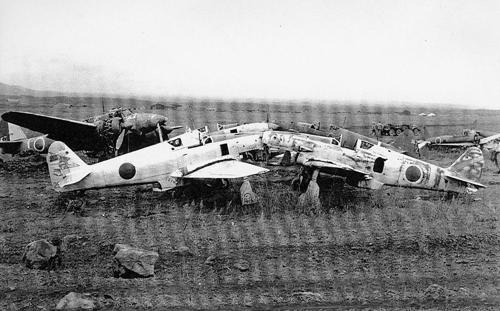 제주 알뜨르비행장의 일본군 비행기