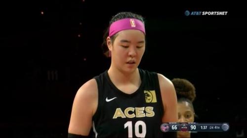 WNBA 박지수 2득점…소속팀은 공동 8위 올라 'PO행 희망'