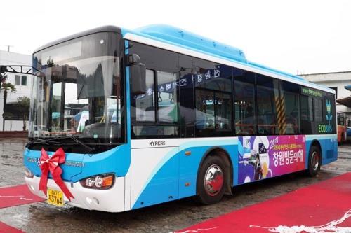 마창여객이 도입한 경남 1호 전기 시내버스.