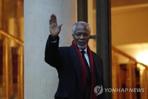 노벨평화상 수상한 코피 아난 전 유엔 사무총장 별세(종합)