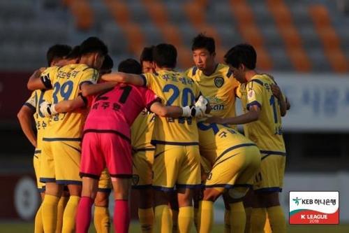프로축구2부 아산, 안산에 1-0 승리…선두 복귀