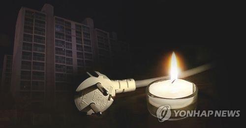 구미 상모동 11개 아파트 정전…주민 불편(종합)