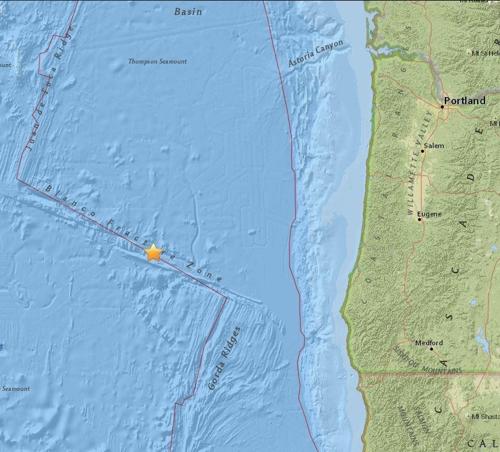 美 오리건 앞바다 규모 6.2 지진…빅원 닥칠까 불안감(종합2보)