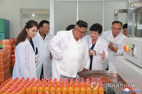 북한 김정은, 송도원종합식료공장 시찰