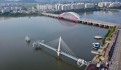춘천 소양강 스카이워크 전경[연합뉴스 자료사진]