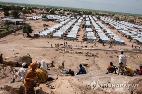 나이지리아 북동부 보르노 주(州)에 있는 난민캠프의 모습[AFP=연합뉴스]