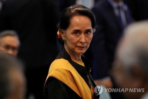 미얀마 실권자 아웅산 수치[로이터=연합뉴스 자료사진]