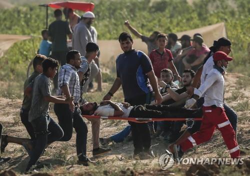 팔레스타인 가자지구 시위[AFP=연합뉴스 자료사진]