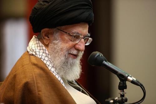 이란 최고지도자 아야톨라 하메네이[이란 최고지도자실]