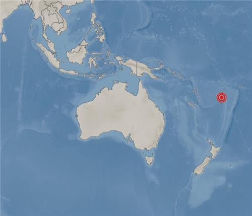 피지 수바 동남동쪽 116㎞ 해역서 규모 8.1 지진