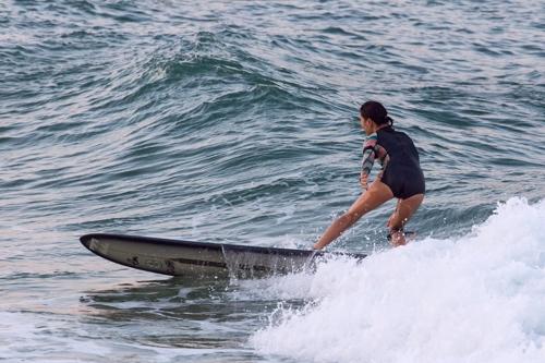 부산 바다 서핑