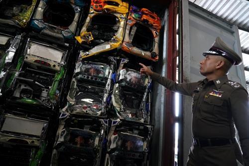 태국에 수입된 전자제품 폐기물[로이터=연합뉴스 자료사진]