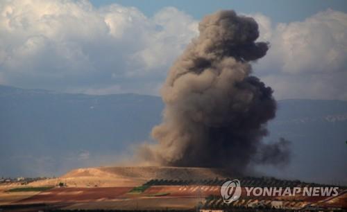 7일 시리아 이들립 지역에 대한 공습[APF=연합뉴스]