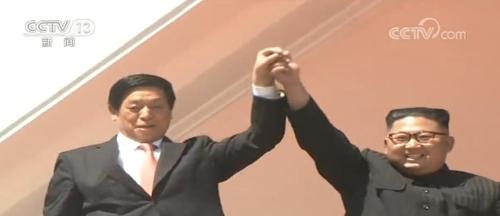 북한 9·9절 열병식 주석단에 김 위원장과 함께한 리잔수 중국 전인대 상무위원장