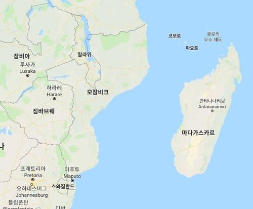인도양 마다가스카르[구글 캡처]