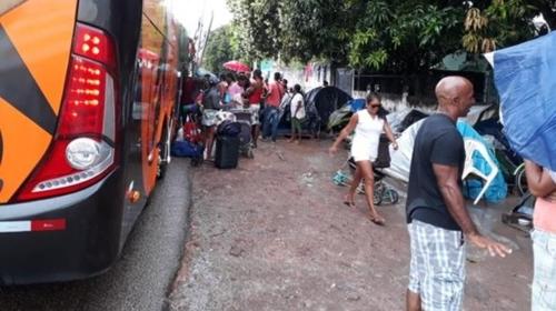 귀국길에 오르는 베네수엘라 난민들