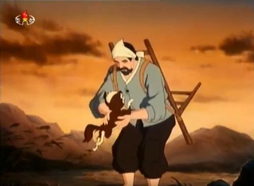 북한영화 '농부와 얼룩이'