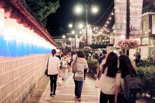 2017년 문화재 야행 모습