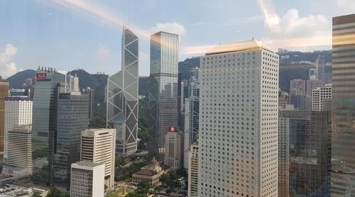 홍콩의 금융 중심지인 센트럴 지역 전경
