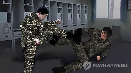 군 부대 폭력 CG [연합뉴스 자료사진]