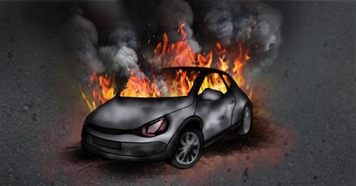 승용차 화재 사고 (PG)