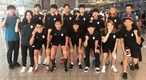 한국 여자 럭비 대표팀 [대한럭비협회 제공=연합뉴스]