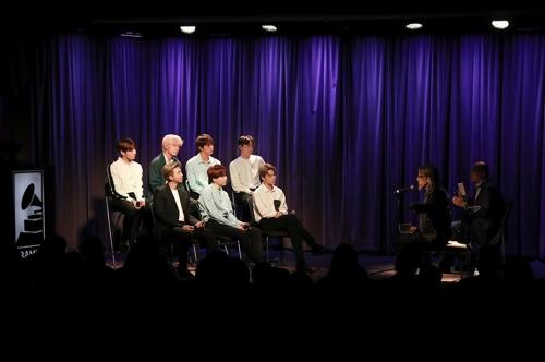 그래미 주최 '방탄소년단과의 대화'