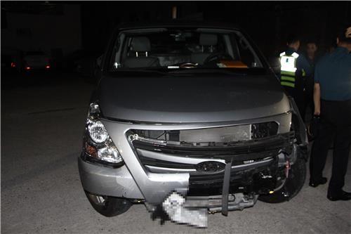 만취 운전 사고 내고 도주한 중국인 검거