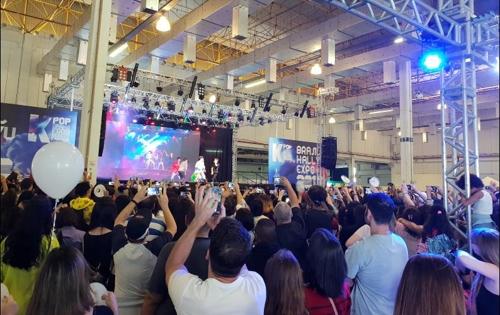 아이돌 그룹 임팩트(IMFACT) 공연에 열광하는 한류팬들