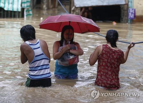 슈퍼태풍 영향으로 홍수가 발생한 필리핀[epa=연합뉴스]